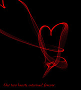 Vampires Digital Art - Our Two Hearts by Renee Trenholm