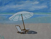Ocean Art. Beach Decor Originals - Out For A Swim by Leslie Allen
