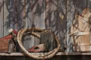 Basket Art - Out in the Barn IV by Tom Mc Nemar