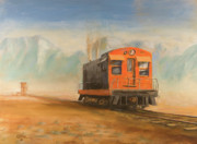 Train Paintings - Out Near Smoke Creek by Christopher Jenkins