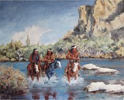 Raiders Paintings - Out Of Bounds by Gretchen Price