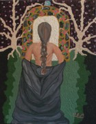 Oppression Painting Originals - Out Of Darkness by Carolyn Cable