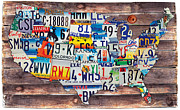 License Plates Prints - Out of Many Print by Joel Muskovich