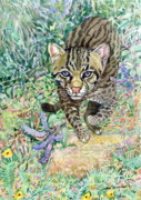 Sri Lankan Artist Paintings - Out of my way - Fishing Cat by Sasitha Weerasinghe