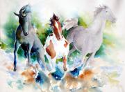 Pinto Painting Originals - Out of Nowhere by Anne Michelsen