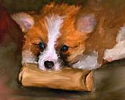 Toy Dog Paintings - Out of Paper by Jai Johnson