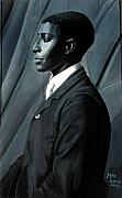 African-american Reliefs - Out of the Box series Man in Plain  Tie by Joyce Owens