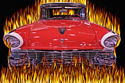 Pink Hot Rod Photos - Out of the Flames by Wendy White