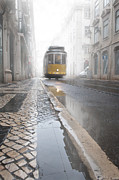Tram Photo Framed Prints - Out of the haze Framed Print by Jorge Maia