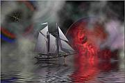 Nautical Digital Art - Out of the Mist by Corey Ford