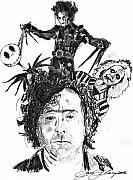 Christmas Drawings Originals - Out of Tim Burton by Jason Kasper