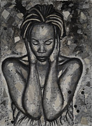 African-american Painting Prints - Out Of Touch Print by Larry Poncho Brown