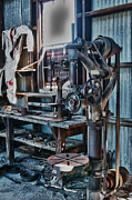 Machinery Digital Art Posters - Out Of Work Poster by Sandra Bronstein