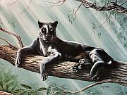 Panther Paintings - Out On A Limb by DiDi Higginbotham