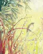 Spring Bird Paintings - Out on a Limb by Jennifer Lommers