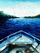 Shana Jackson Paintings - Out on the Boat by Shana Rowe