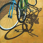 Bicycle Art Posters - Out to Lunch Poster by Linda Apple