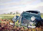 Classic Car Paintings - Out To Pasture by Sam Sidders