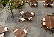 Tiled Prints - Outdoor Dining Area Print by Inti St. Clair