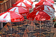 Susan Leggett Prints - Outdoor Dining Print by Susan Leggett