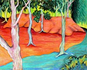 Abstract Landscape Pastels - Outdoor Hideout by Elizabeth Fontaine-Barr