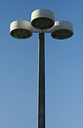 Night Lamp Photo Posters - Outdoor lamp post Poster by Blink Images