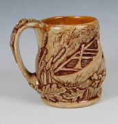 Camping Ceramics - Outdoor Nature Mug by Patty Sheppard