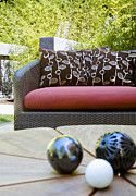 Cushion Posters - Outdoor Sofa and Decoration Poster by Inti St. Clair