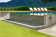 Outdoor Swimming Pool Print by Atiketta Sangasaeng
