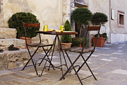 Al Fresco Photo Framed Prints - Outdoor Table and Chairs Framed Print by Jeremy Woodhouse
