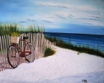 Sand Dunes Paintings - Outer Banks Beach by Maria Mills