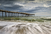 North Framed Prints - Outer Banks NC Avon Pier Cape Hatteras - Fortitude Framed Print by Dave Allen