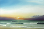 Outer Banks Paintings - Outer Banks Sunrise by Albert Puskaric