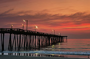 Atlantic Beaches Photo Framed Prints - Outer Banks Sunrise Framed Print by John Greim