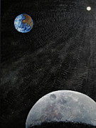 Outer Space Painting Originals - Outer Space by Alan Schwartz