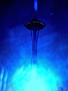 Sights Art - Outer Space Needle Cold by Randall Weidner