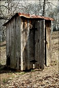Potty Prints - Outhouse Print by Gayle Johnson