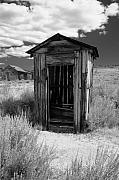 Arrested Metal Prints - Outhouse in Ghost Town Metal Print by George Oze