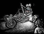 Ed Roth Prints - Outlaw Ghost Print by Bomonster