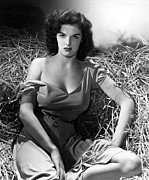 Off The Shoulder Framed Prints - Outlaw, Jane Russell, 1943, Cleavage Framed Print by Everett