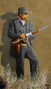 Bank Robber Paintings - Outlaw Sam Bass by Ronald Wilkinson