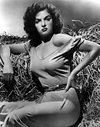 Off The Shoulder Framed Prints - Outlaw, The, Jane Russell, 1943 Framed Print by Everett