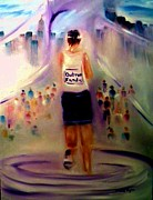 Marathon Painting Originals - Outrun Hurricane Sandy NYC Marathon  by Sandy Ryan