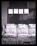 Bourke White Prints - Outside Couch- Religious Writings And Clothespins  Print by Doug  Duffey