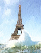 Eiffel Tower Paintings - Outside the Ark by Stefan Kuhn