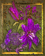 Lilies Digital Art - Outside the Frame by Jill Balsam