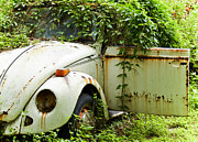 Rusted Cars Photos - Outta Here by Carolyn Marshall