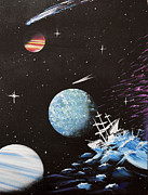 Stellar Mixed Media Prints - Outter Limits Print by Stephen Ford