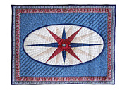 England Tapestries - Textiles - Oval Compass by Deborah King
