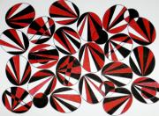 Ruth Devorah - Ovals Red and Black